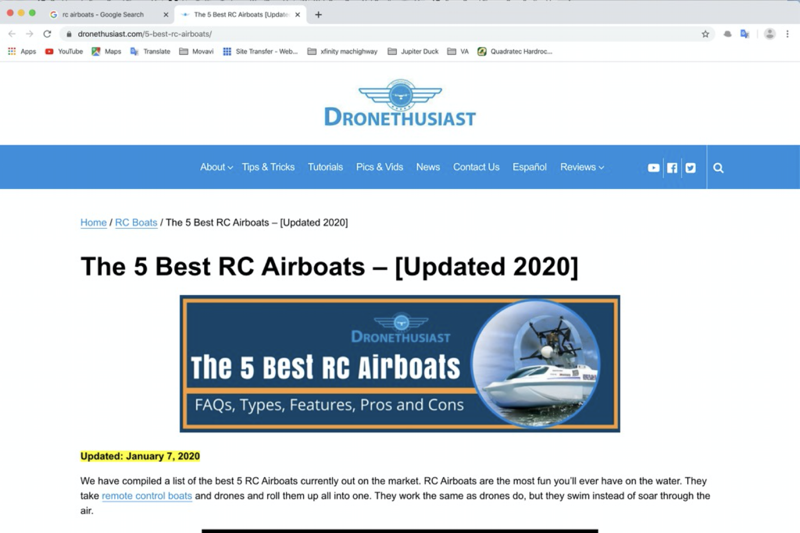 best rc airboats